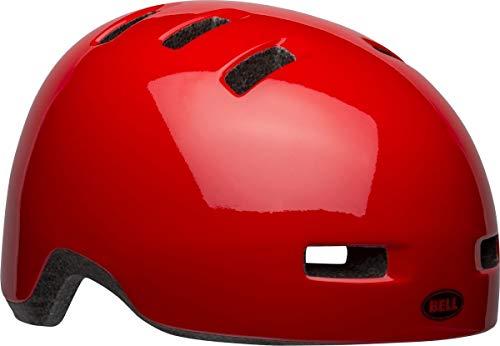 BELL Lil Ripper Casco, Rojo Brillante sólido, Unisize 45-51CM