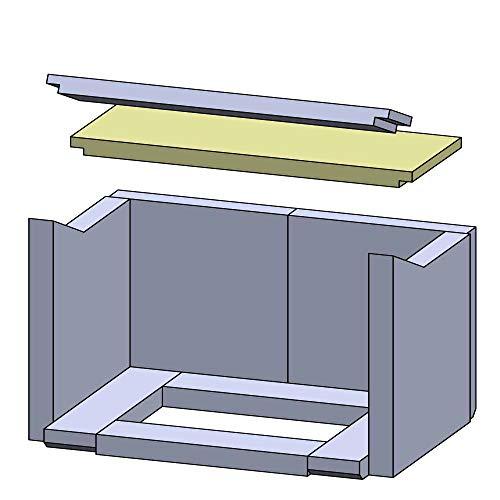 Flamado Feuerraumauskleidung Heizgasumlenkplatte geeignet für Hinten passend für Haas und Sohn Kamin Ersatzteile Kaminofen Brennraumauskleidung Schamotte 420 x 160 x 25 mm 1.350°C