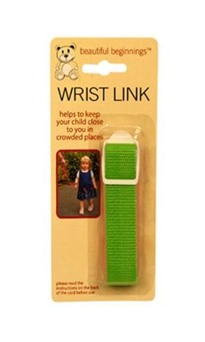 Green Adjustable Wrist Link Safety Rein Restraint Toddler Walking Various Colours 81cm