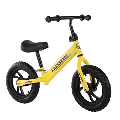 Kinderen fiets, glijden-wandelaar gemaakt van carbon staal (lichaam), lopers zonder indrukken van de Auto's for kinderen, stuurt de installatie tool, geschikt for kinderen 2-6 jaar (Color : Yellow)