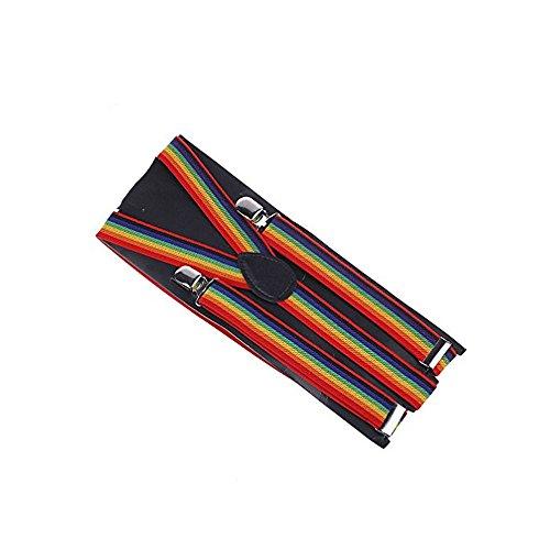 JTC - Bretelles - Homme One Size - Multicolore - Arc-en-ciel - Taille unique