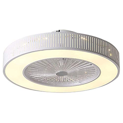 Orillon Modern Indoor White Ceiling Fan with Light for Indoor Kitchen Bathroom Bedroom, Low Profile Flush Mount Remote LED 72W Quiet Electric Fan