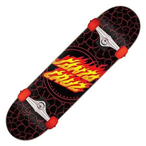 "Santa Cruz Skateboards Complete Flame Dot Black 8.0"" x 31.25"" Assembled"