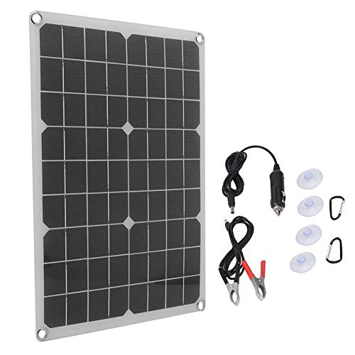 RiToEasysports Solar Charging Panel, 20 W 30 W Flexible Solar Power Autobatterieladung USB DC5521 Solarpanel mit Zwei Ausgängen Hervorragender Lichteffekt