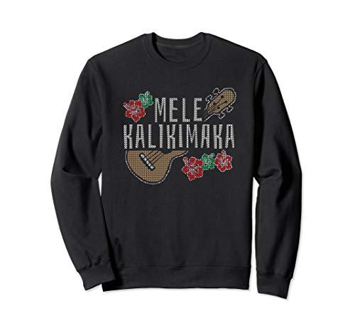 MELE KALIKIMAKA Christmas Ukulele Hawaii Gift Sweatshirt