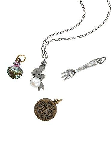 Disney Die kleine Meerjungfrau Ariel austauschbar Multi Gabel Shell Zitat Charm Halskette
