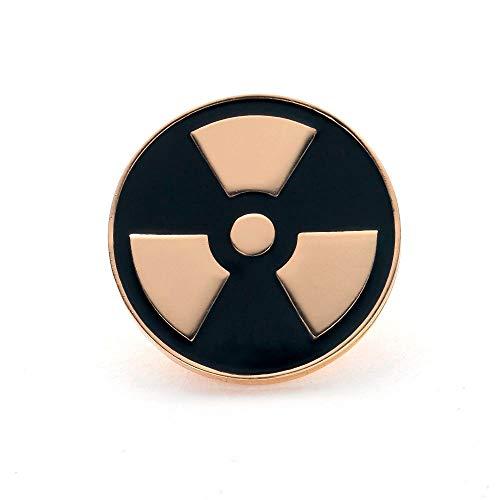 El mejor broche de radiación nuclear, joyería médica, regalo dorado para mujeres, broche de solapa esmaltado, accesorios de Metal para médicos y enfermeras, color dorado