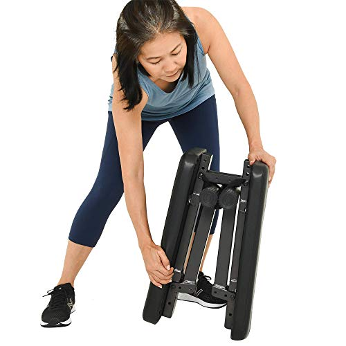 Prevention Flat Foldable Weight Bench, Black