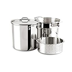 cheap All-Clad E796S364 Stainless Steel Special Dishwasher Compatible 12 Liter Multi Cooker Cookware Set,…