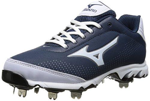 Mizuno Herren Vapor Elite 7 Low Baseball Cleat, Blau (Marineblau/weiß), 49 EU