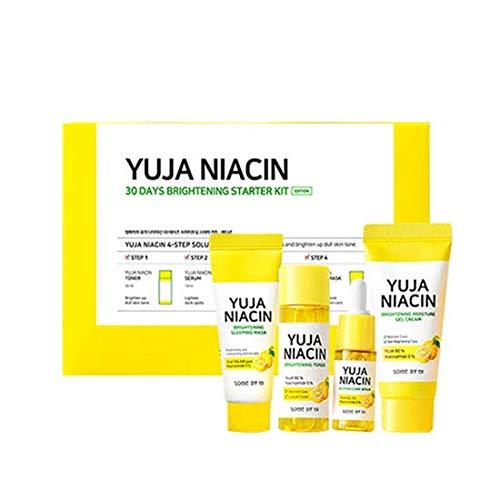 SOME BY MI Yuja Niacin 30 Days Brightening Starter kit(Toner 30ml+Serum 10ml+Gel Cream 30g+Sleeping Mask 20g)…