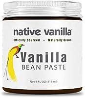 Native Vanilla - Puur vanillepasta 118 ml (4 oz) - Voor chefs en thuis koken, bakken en desserts maken