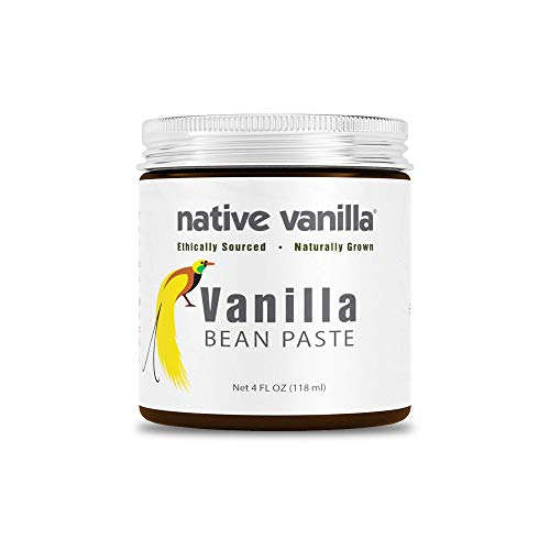 Native Vanilla - All Natural Pure Vanilla Bean Paste (4 oz) - Sugar Free - For the Home Chef for Cooking, Baking, and Dessert Making