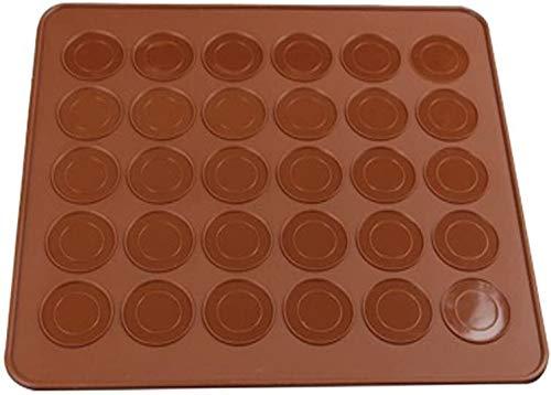 WLYX Mold des Kochens von Silikon Hitzebeständig, Silikon-Form zur Herstellung von 30 Macarons Macarons-Modus (rund)