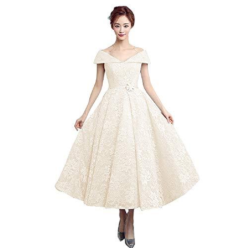 1950's Off the Shoulder Wedding Dress Lace