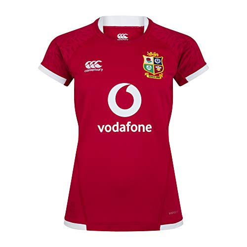Canterbury British and Irish Lions Rugby Pro Trikot für Damen XS Rot - Tango Red
