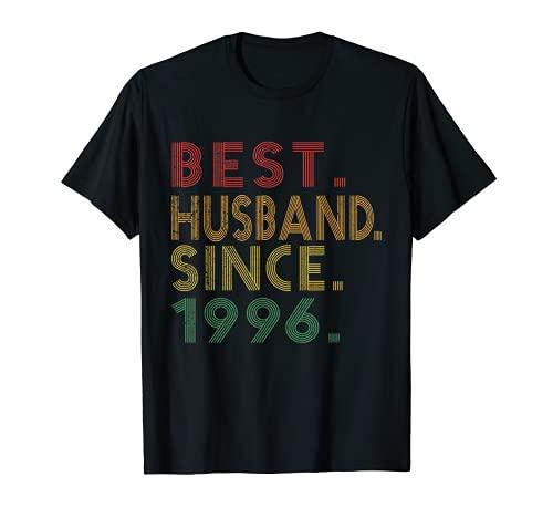 Best Husband From 1996 - Regalos divertidos para 24 aniversario de boda Camiseta