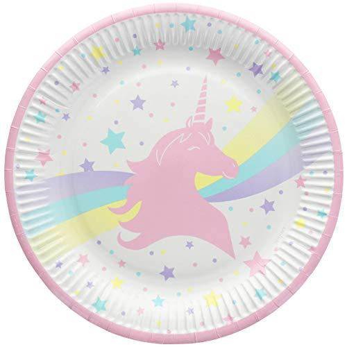 SPSS Mariage Teller, Einhorn, Durchmesser 22,7 cm, 8 Stück