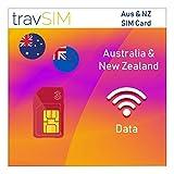travSIM Karte für Australien & Neuseeland (Three UK SIM-Karte) 30 Tage gültig - 12GB Mobile Daten – Australien, Neuseeland UK Three SIM-Karte – Kostenloses Roaming in 71+ Reisezielen -