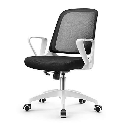 Huabei2 - Silla de oficina para ordenador y oficina, diseño ergonómico, color blanco