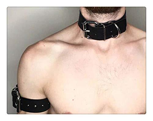 Z-one 1 Collar Cuello Cuero Hombre Viene Accesorios con un brazalete genial
