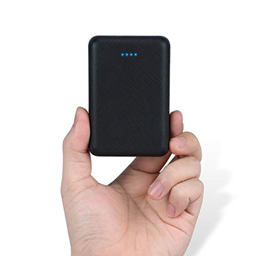 POSUGEAR Powerbank 10000mAh, Power Bank mit 2 Ausgängen (2.1A+1A) Kompatibel mit Allen Handys und Tablets (Schwarz)