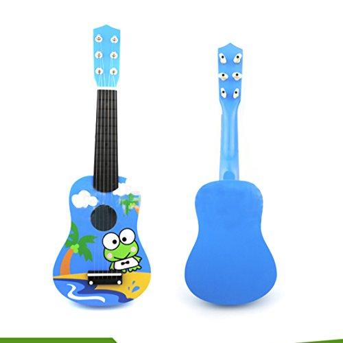 MAJOZ Gitarre Kinder 21 Zoll 6 Saite Kindergitarre Niedlicher Cartoon Mini-Holzgitarre Musikinstrumente pädagogisches Spielzeug Für Kinder
