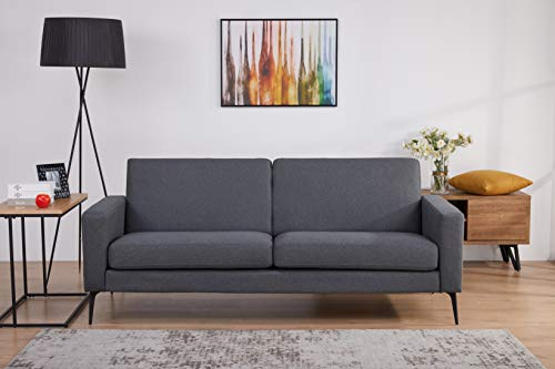 Amazon Marke - Movian Keitele, 3-Sitzer-Sofa, 193 x 79 x 79, Dunkelgrau