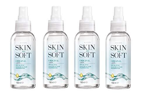 Avon Skin So Soft Original Dry Oil Spray 4 x 150ml.