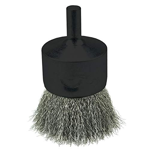 Weiler 10021 Crimped Wire End Brush 1', .006' Stainless Steel Fill, Made in the USA