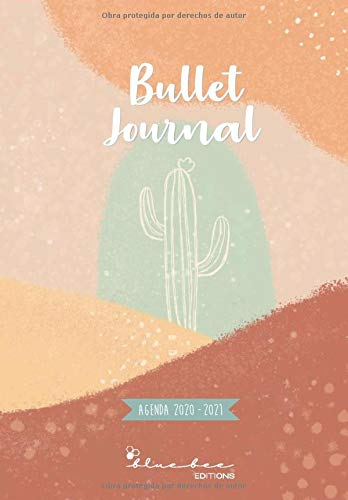 Agenda escolar estilo 'Bullet Journal' - Cactus: Septiembre 2020 a Agosto 2021 (Bullet journal 20 -21)