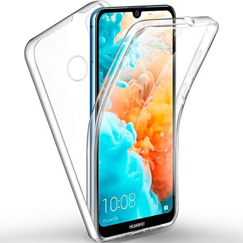 ivencase Huawei Y6 / Y6 Pro 2019 Hülle 360 Grad Handyhülle, Silikon Crystal Full Schutz Cover [Separat Hart PC Zurück + Weich TPU Vorderseite] Vorne und Hinten Schutzhülle für Huawei Y6 / Y6 Pro 2019