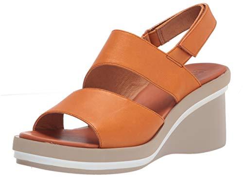 Camper Kyra K200965-003, Wedge Sandal Mujer, Orange, 37