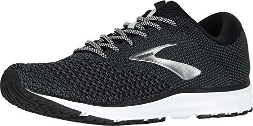 Brooks Mens Revel 2 Running Shoe - Black/Grey/Grey - D - 8.5