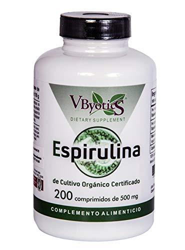 Vbyotics Spirulina Organica 500Mg - 200 comprimidos
