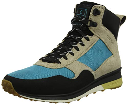 Cole Haan Herren Grandpro Hiker Water Resistant Klassische Stiefel, Mehrfarbig (Sesame Beige Suede/Blue Green Wr Sesame Beige Suede/Blue Green Wr), 40 EU