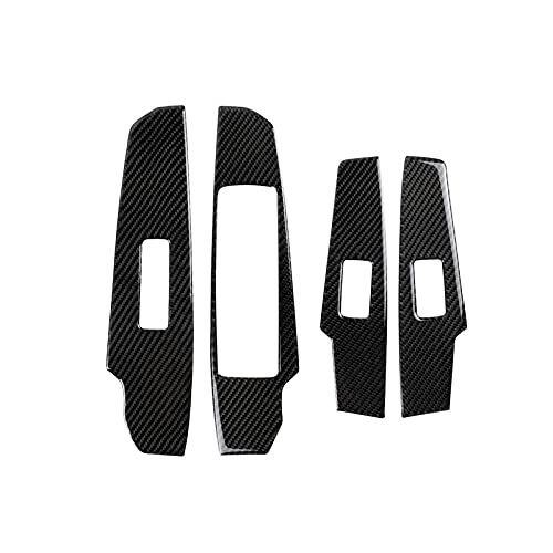 ZLYCZW Marco Decorativo de Control de regulador de Ventana de Fibra de Carbono para automóvil Compatible con IS250 (2013-2019), Pegatinas Decorativas modificadas para el Interior del automóvil