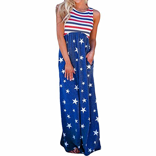 Sexy Dresses for Women Party Club Night,MILIMIEYIK Spaghetti Strap Sleeveless USA American Flag Patriotic Sequin Dress Top Blue