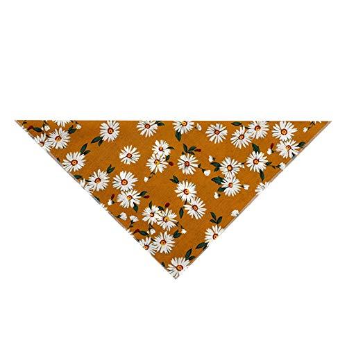 Fhong Halstuch für Hunde, mit Blumenmuster, waschbar, dreieckig, dekorativ