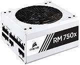 CORSAIR RMX White Series (2018), RM750x, 750 Watt, 80+ Gold Certified, Fully Modular Power Supply - White (Renewed)
