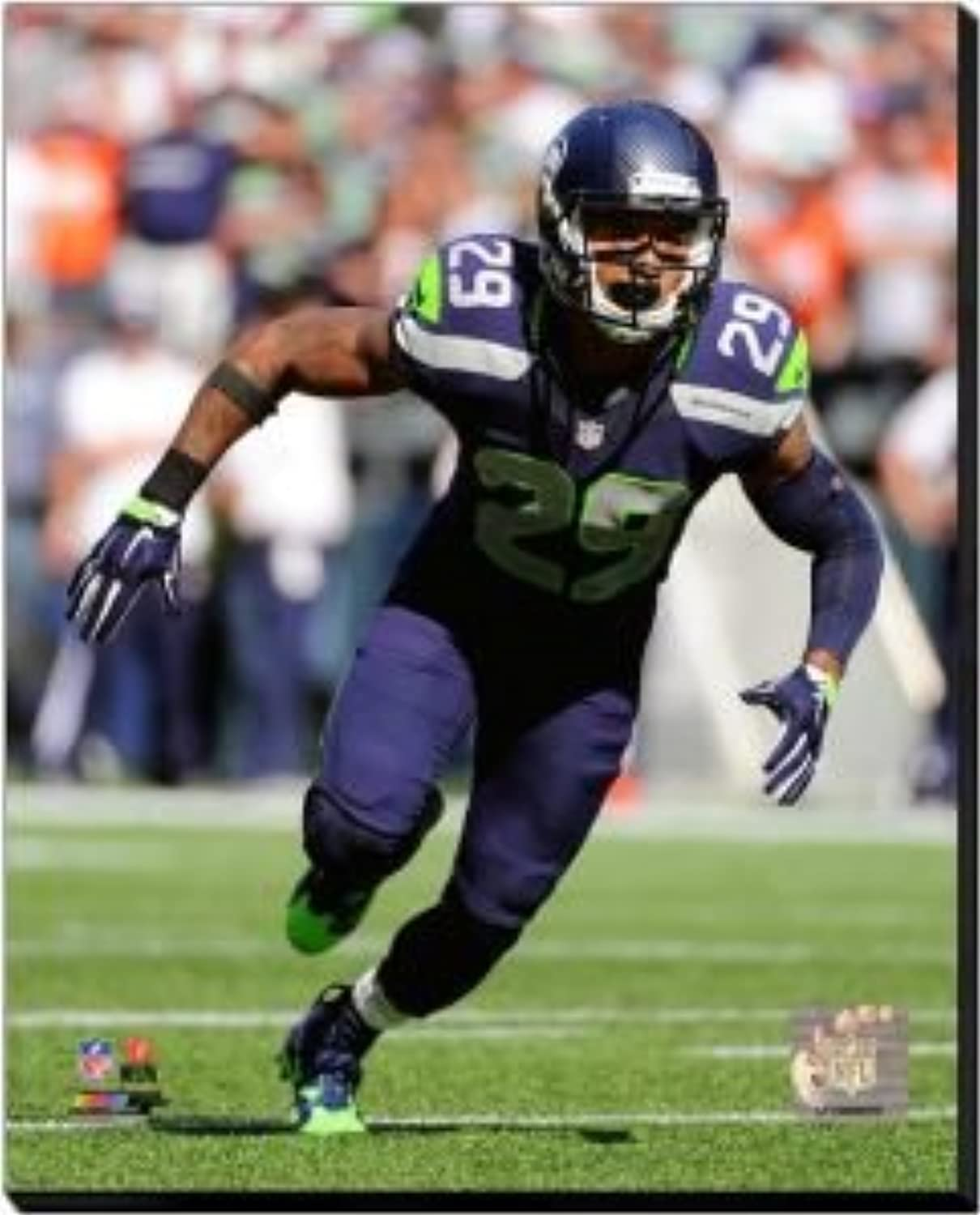 Seattle Seahawks Earl Thomas 2014 Action 40x50 Stretched Canvas