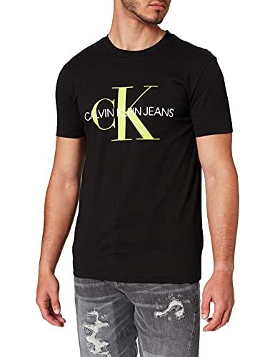 Calvin Klein Monogram Logo Slim Tee Maglietta, Nero (CK Black), M Uomo