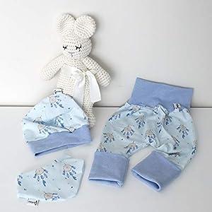 ANGEBOT Set – Hose, Mütze, Halstuch – Traumfänger blau (hellblau meliert) Baby Mädchen Junge