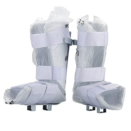 Leomix Universal Férula Suave Cómoda/Soporte para Piernas para Entrenador Motorizado de Pedal de Bicicleta de Rehabilitación y Fisioterapia Electrónica, Blanco, 1 par
