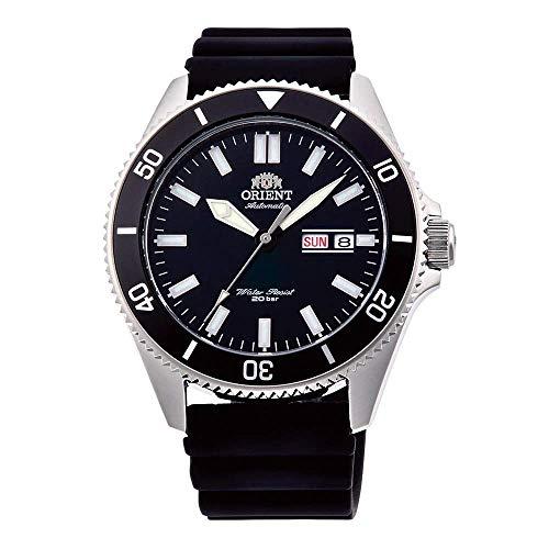 Orient Herren Analog Automatik Uhr mit Gummi Armband RA-AA0010B19B