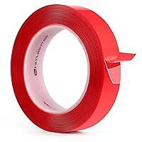 HitLights 両面テープ 透明VHBマウントテープ 高耐久 防水 クリアテープ 長さ16フィート 幅1インチ 車 オートバイ 自宅 壁 オフィス 装飾