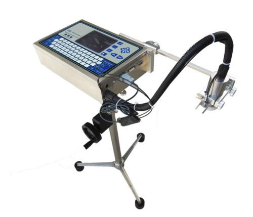 Imprimante à jet d'encre industrielle haute résolution Date code Machine d'impression pour tuyaux en plastique, acier, alliage d'aluminium