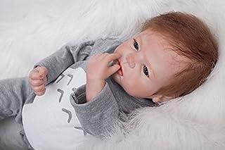 ZIYIUI 22 Inch 55cm Levensechte Babypoppen Reborn Poppen Siliconen Jongen Handgemaakte Reborn Babypop Kinderen Speelgoed R...