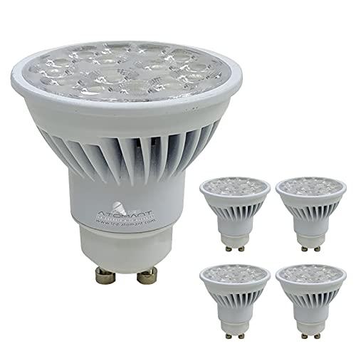 Pack 5x GU10 LED 8,5w Potentísima. Color Blanco Frio (6500K). 900 Lumenes. Angulo 38 grados. A++