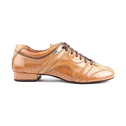 PortDance Herren Tanzschuhe/Dance Sneakers PD Casual - Leder Camel - Rauledersohle [EUR 43]